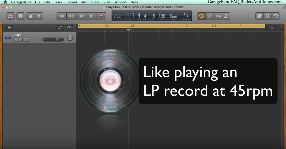 Garageband V10 Imported File Plays Too Fast Cuistips